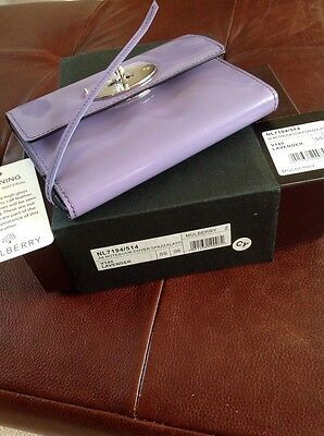 Mulberry A6 Notebook In Lavender Spazzalato
