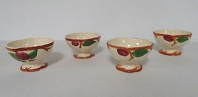 LOT 4 FRANCISCAN APPLE Sherbert Custard Pedestal Cups Made USA & England A617