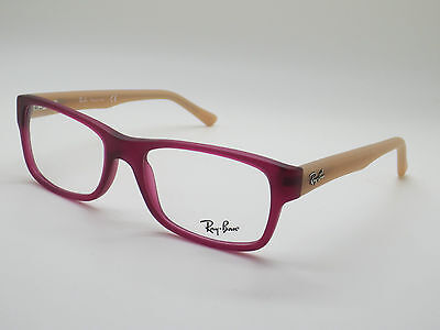 NEW Authentic Ray Ban RB 5268 5553 Matte Violet/Beige 52mm RX Eyeglasses
