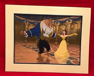 NEW  Disney Store Exclusive Beauty and the Beast Diamond Edition Lithograph