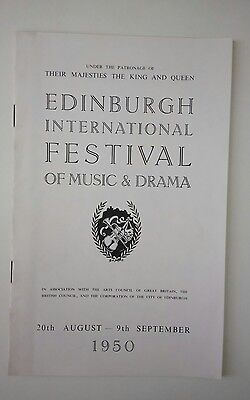 Concert Prog/edinburgh Festival 1950/royal Philharmonic/sir Thomas Beecham