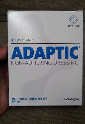 "ADAPTIC Dressing Non-Adhering Gauze, by Systagenix,  3"" x 3"" - Box of 50"