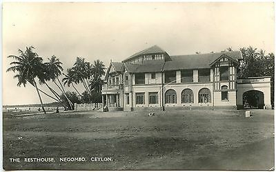 Vintage Postcard The Resthouse Negombo Ceylon Unused Ref: SA096