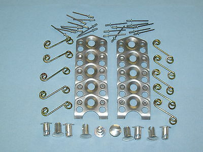 """10 Alum. 7/16"""" Dome Head Dzus .550"""" Long,10 Plates And Springs And 20 Pop Rivets"""