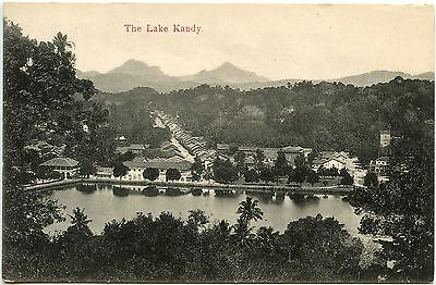 Vintage Postcard The Lake Kandy Ceylon Unused Ref: SA101