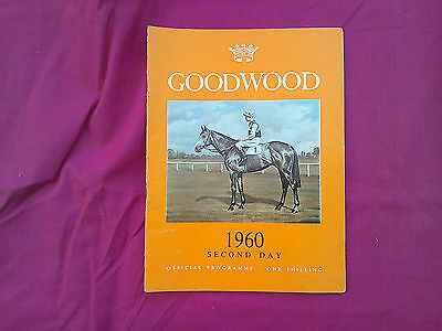 Goodwood Race card. 27th July 1960. Wednesday 2nd day. Right Boy. L Piggott up