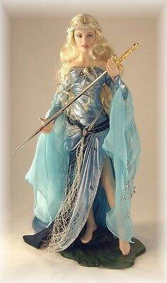 Franklin Mint - The Legend Of King Arthur - Lady of the Lake Porcelain Doll.
