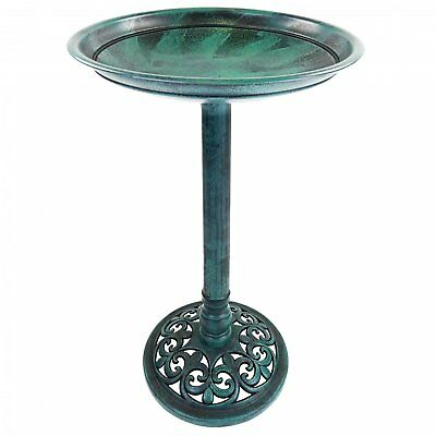 NEW! Traditional Ornamental Garden Pedestal Bird Bath Outdoor Water