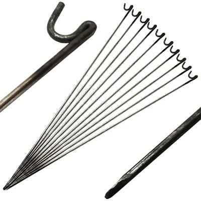 Steel Metal Barrier Fencing Fence Pins Post Stakes 10mm x 1250mm Pack Of 10