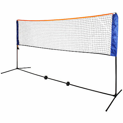 NEW Large 5m Adjustable Mini Foldable Badminton Tennis Volleyball Net