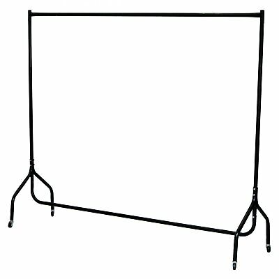NEW 6ft Garment Clothes Rail Super Heavy Duty All Metal Black