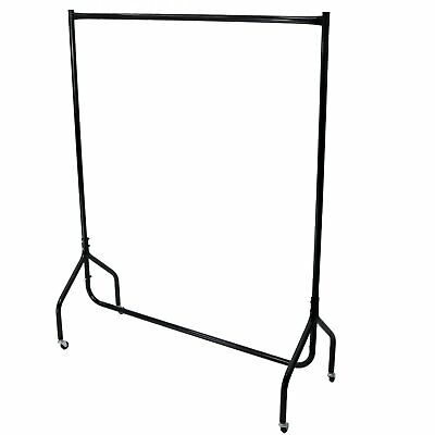 NEW 4ft Garment Clothes Rail Super Heavy Duty All Metal Black