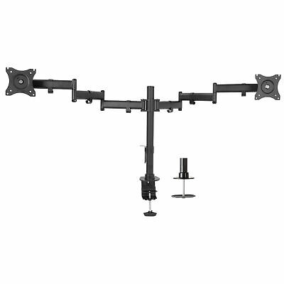 VIVO Dual Monitor Mount Fully Adjustable Stand for 2 Ultra Wide Screens upto 38""