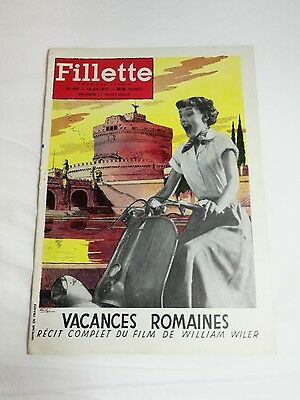 Audrey Hepburn Fillette 1954 vacanze romane Gregory Peckl film rivista cinema