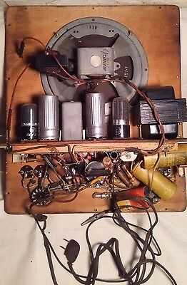 * Home Made Tube Radio with Amplifier * RCA Tubes * Grunow Speaker * Must See! *