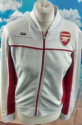 ARSENAL™ JACKET Women's white full zip Emirate Stadium track top 19w 22l size 12
