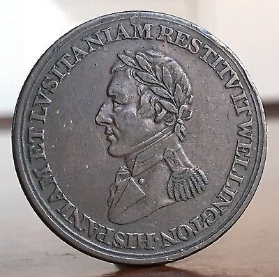 Canada / England. Duke Of Wellington 1812 Peninsular Wars Token Coin. Scarce.