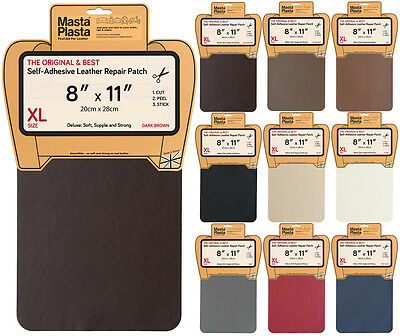 MastaPlasta Leather Repair Self-Adhesive Patch for Sofa Car Seat Bags XL 28cmx20