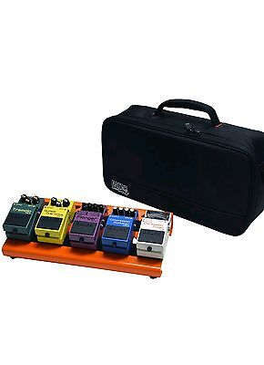 Gator Cases Gpb-Lak-Or Small Aluminum Pedal Board W/ Carry Bag British Orange