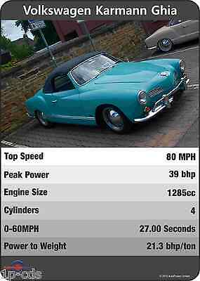VW KARMANN GHIA Trumps Original Print Poster Ltd edition Volkswagen UNIQUE