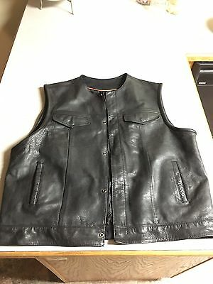 Harley Motorcycle Leather Vest 3xl