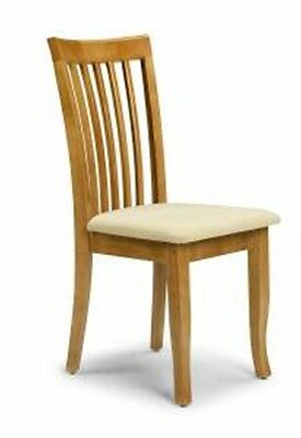 Julian Bowen Newbury Dining Table Chair - Maple Finish
