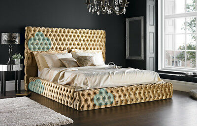 Florida 3FT Single Chesterfield Bed With Headboard in Various Colours & Fabrics