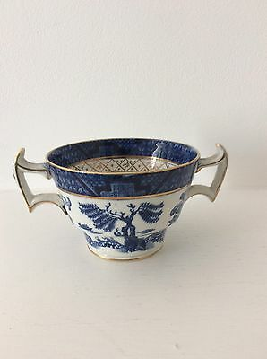 Rare Booths Real Old Willow Two Handled Chocolate / Bouillon Cup