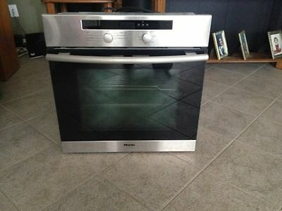 """Miele 24"""" Built-In Wall Electric Oven Stainless 208V H4240B Made In Germany Mint"""