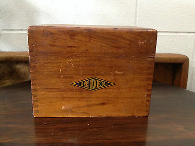Antique Wood Index Box, Dovetailed, Nice Decorative Piece