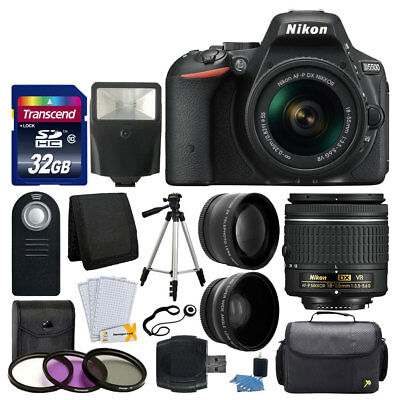 Nikon D5500 Digital SLR Camera Body 3 Lens Kit 18-55mm VR Lens + 32GB Top Value