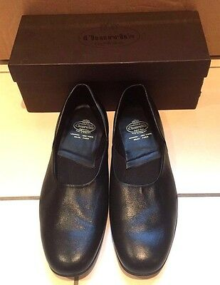 Church's Ajax Black Calf Leather Slippers Size 10.5 F In Immaculate Condition