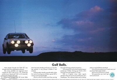 VW GOLF BALLS MK2 RALLY Poster Photo Volkswagen Limited Edition Very Rare NEW