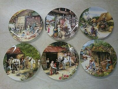 Royal Doulton Plates Old Country Crafts Collection X6