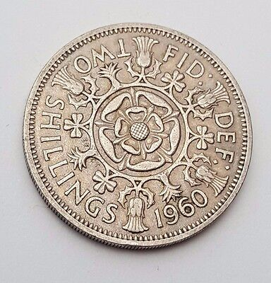 Dated : 1960 - Queen Elizabeth II - One Florin / Two Shillings Coin
