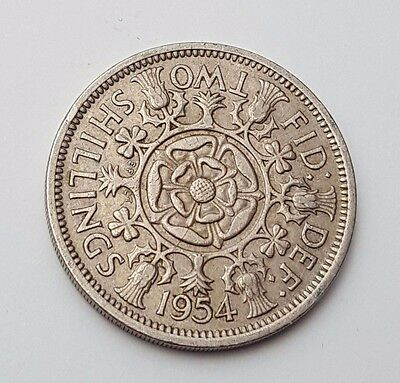 Dated : 1954 - Queen Elizabeth II - One Florin / Two Shillings Coin