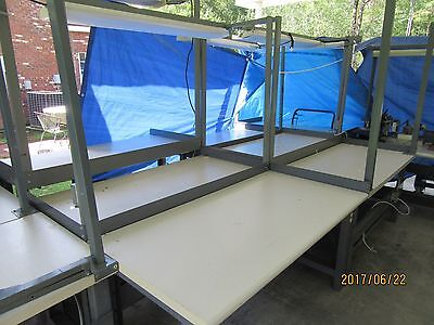 """Assorted Industrial Shop Craft Workbench Tables  Appr 30"""" X 60"""" Steel Frame"""
