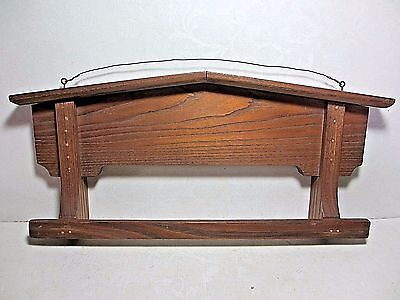 Vintage Wooden Wall Hung Towel Rack Great for Laundry Room or Potting Shed