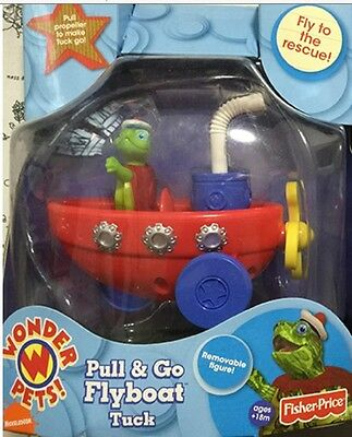 New in Box Fisher Price Wonder Pets Pull & Go Flyboat Tuck Rare