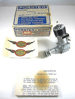 Vintage 1950 Forster G-29 Rear Intake Glow Model Airplane Engine