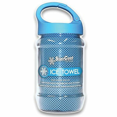 Pursuit Stay Cool Ice Towel Enduring Sports Gym Jogging Cooling Chilly Pad Blue