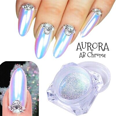 CRYSTAL Nail UNICORN CHROME AB Aurora EFFECT RAINBOW Nails Powder Summer 2017 um