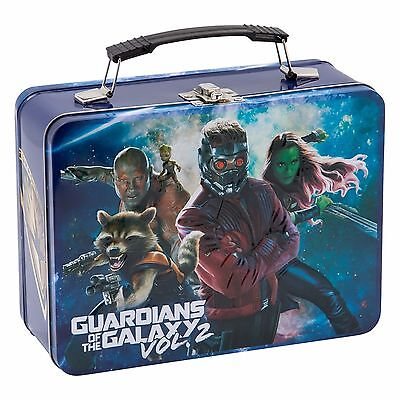 Marvel Guardians of The Galaxy Vol 2 Large Tin Tote Lunch Box - Groot, Rocket