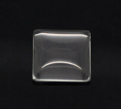 5x Glass cabochons 15 x 15 mm Square Glue-on stone clear new DIY TINKER