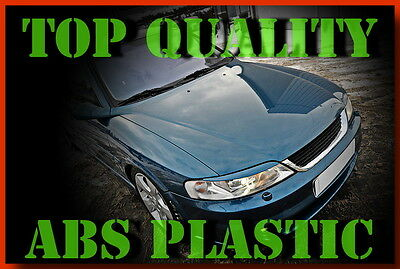 Vauxhall Vectra B Opel Headlight Lids Eyelids Eyebrows Trims Plastic Tuning Abs