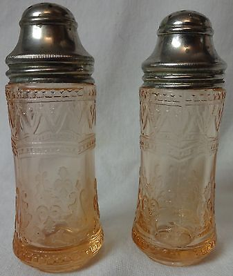 Patrician Pink Salt & Pepper Shaker Federal Glass Company