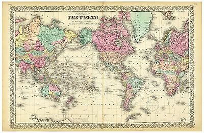 Old World Map Vintage Print Globe Art Poster A4 To A0 Framed
