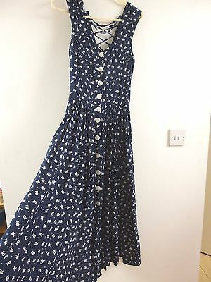 Unbranded true vintage floral tea/summer/festival/boho dress  size S/XS