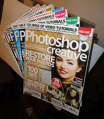 34 Issues Of Photoshop Creative Magazine Good Condition