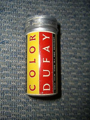 Vintage Dufay Color aluminium 120 film canister - daylight film D1